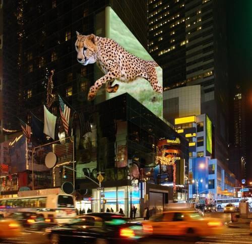Las pantallas 3D podrían reemplazar a las vallas publicitarias electrónicas. (Foto: TriLite)